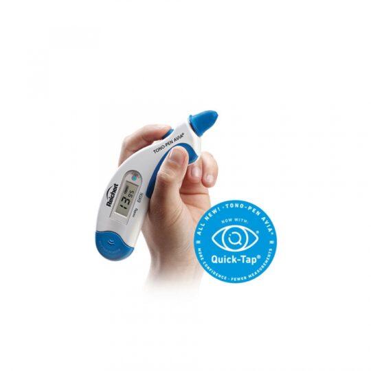 Tonomètre contact portatif : Avec le mode de mesure Quick-Tap ® , le tonomètre est le plus rapide, précises et ne nécessite aucun étalonnage.