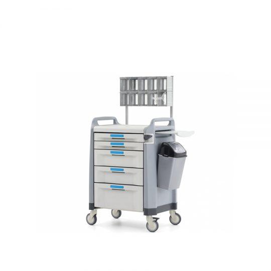 Ref. : MA-02 / Chariot d'anesthésie MA-02 / Casablanca / Medical expert. Chariot d'anesthésie avec 5 tiroirs