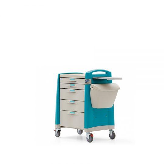Ref. : AMC-01 / Chariot à médicaments / Medical expert / Casablanca. Chariot à médicaments avec cadre en aluminium.