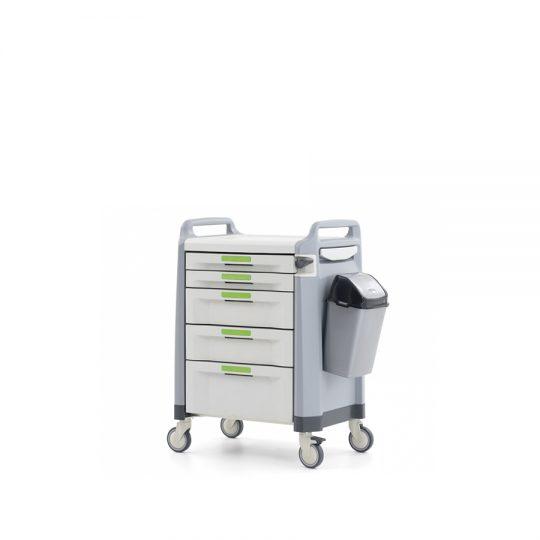 Ref. : MA-01 / Chariot à medicament. Chariot à médicaments avec des rails coulissants à fermeture automatique et télescopique