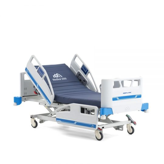 Ref. : PLUS A8 / Literie et mobilier hospitalier / Lit de réanimation 4 moteurs avec réglage électronique