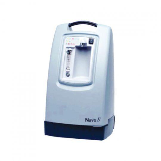 le concentrateur d'oxygène NUVO Lite est capable de fournir jusqu'à 8 litres d'oxygène en débit continu et fonctionner 24h/24.