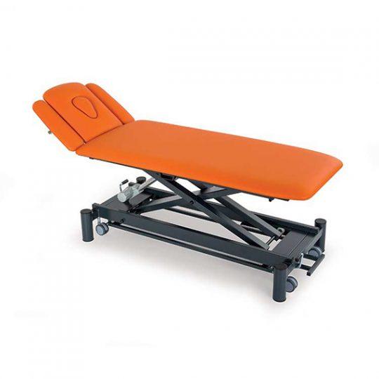 Table professionnelle à 4 plans réglable électriquement ou hydrauliquement en hauteur pour traitement, massage et examen médical